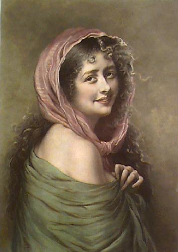 Kathleen Mavouneen (Restrike Etching) by John Fitz Marshall