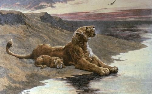 Maternal Care (Restrike Etching) by Herbert Thomas Dicksee