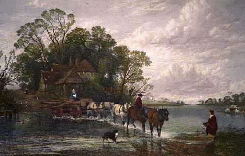 Nearest Way in Summertime (Restrike Etching) by F. Creswick