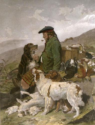 Scotch Gamekeeper (Restrike Etching) by Richard Ansdell