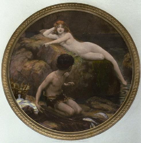 Naiads Pool (Restrike Etching) by Herbert James Draper