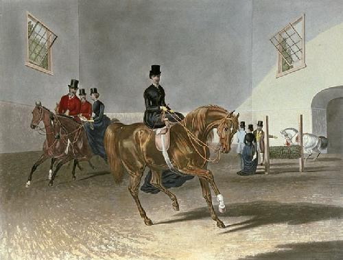 Riding School (Restrike Etching) by Francis Calcraft Turner