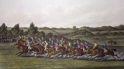 Start (Derby) (Restrike Etching) by Henry Alken