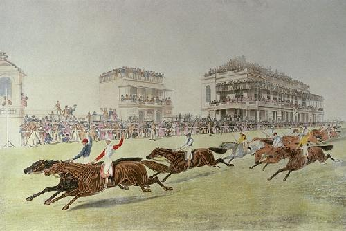 Doncaster Gt. St. Leger (Restrike Etching) by John Frederick Herring