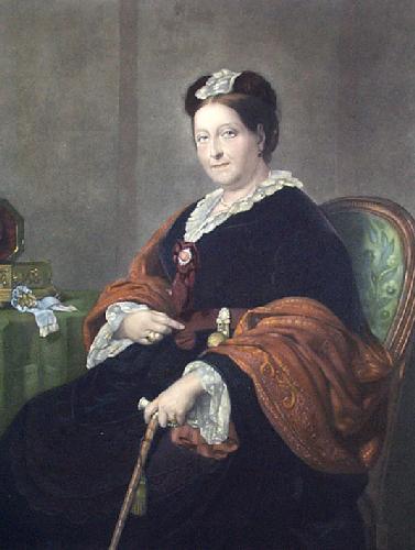 Queen Victoria (Restrike Etching) by Franz Xavier Winterhalter
