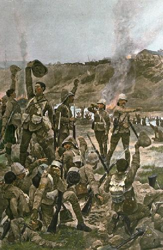 Dawn of Majuba 1900, The (Restrike Etching) by Richard C. Woodville