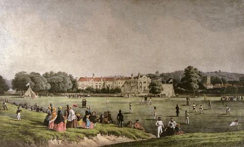 Cricket at Tonbridge (Restrike Etching) by Arthur Dodd