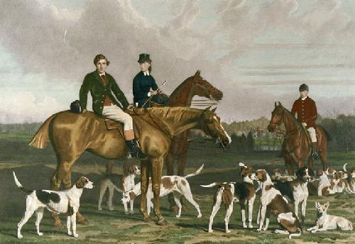 Heythorpe Hunt (Restrike Etching) by Stephen Pearce
