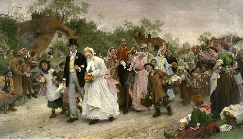The Village Wedding (Restrike Etching) by Sir Samuel Luke Fildes