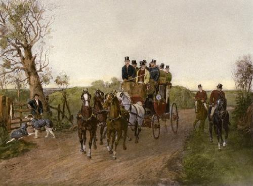 In Full Swing (Restrike Etching) by Henry Alken