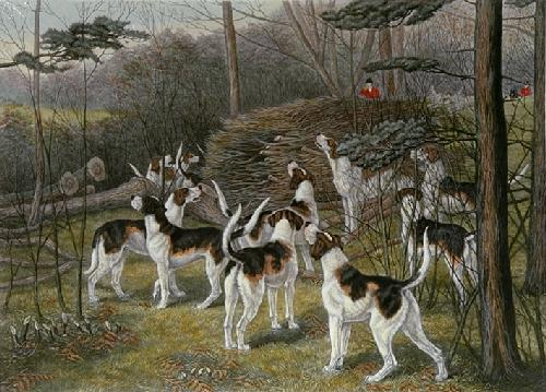 Lost Among the Timber (Restrike Etching) by George Veal