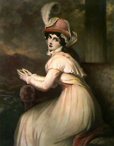Lady Hamilton as Ambassadress (Restrike Etching) by George Romney