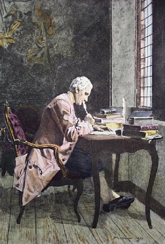 The Poet (Restrike Etching) by Jean-Louis Ernest Meissonier