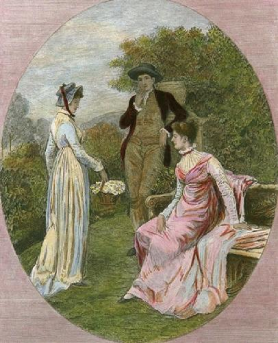 The Rivals (Restrike Etching) by Randolph Caldecott
