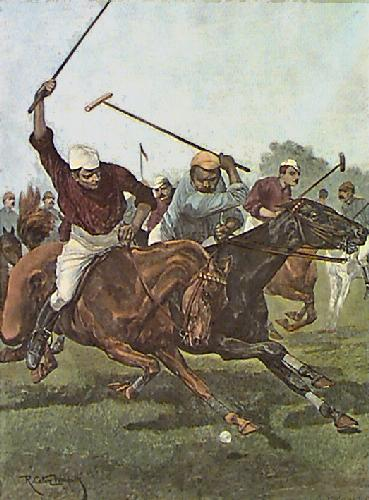 A Chukka (Restrike Etching) by Richard C. Woodville