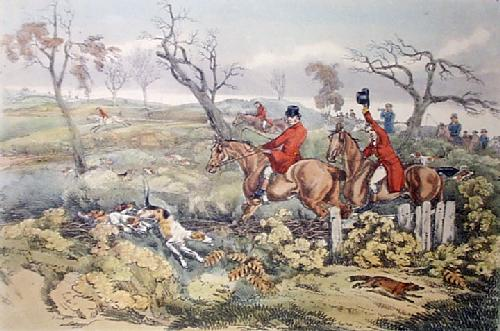 Breaking Cover (Restrike Etching) by Anonymous