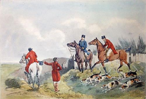 Laying On Hounds (Restrike Etching) by Anonymous