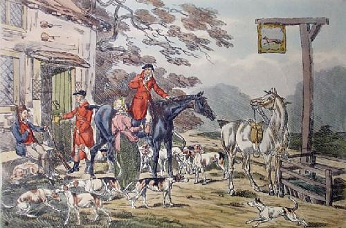 Returning To Kennels (Restrike Etching) by Anonymous