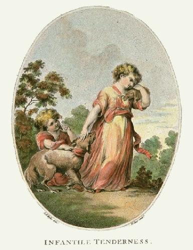 Infantile Tenderness (Restrike Etching) by G.R. Ryley