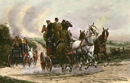 His Majestys Mails (Restrike Etching) by Wright