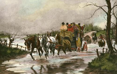 River in Flood (Restrike Etching) by Wright