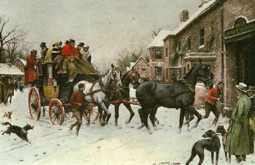Last Mail (Restrike Etching) by Wright