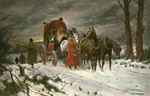 Christmas Eve (Restrike Etching) by Wright