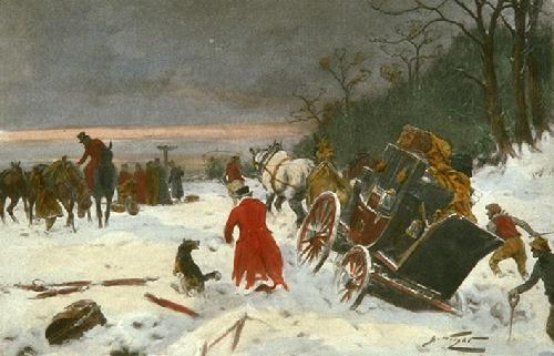 In the Good Old Time (Restrike Etching) by Wright