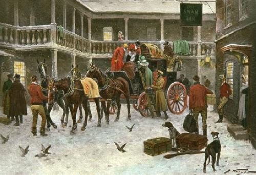Good Old Days (Restrike Etching) by Wright