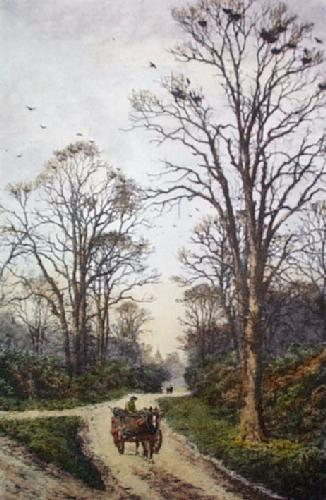 The Old Rookery (Restrike Etching) by Frederick Albert Slocombe