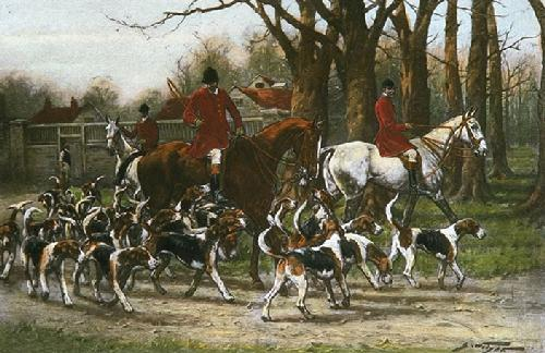 Proud of His Pack (Restrike Etching) by Wright