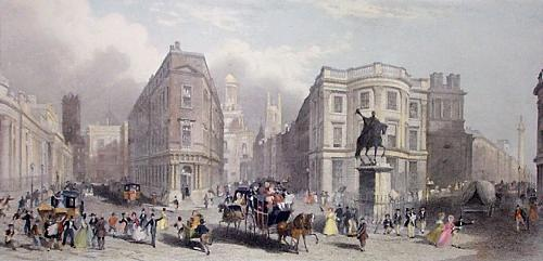 Bank of England,Royal Exchange (Restrike Etching) by T. Nixon