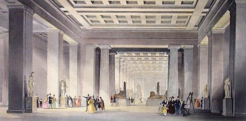 British Museum (Restrike Etching) by Thomas Allom