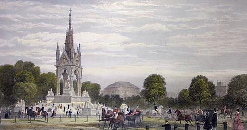 Albert Memorial, Hyde Park (Restrike Etching) by G.H. Andrews