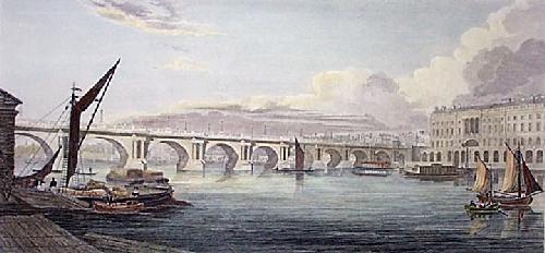 Waterloo Bridge (Restrike Etching) by W G Moss
