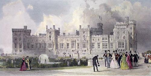 Windsor Castle (East Terrace) (Restrike Etching) by Thomas Allom