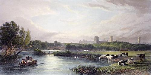Warwick Castle (Restrike Etching) by Edward Duncan