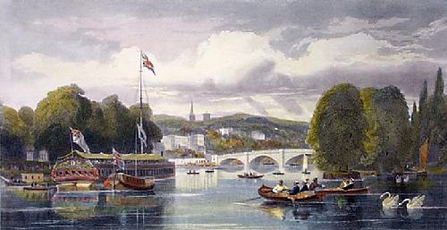 Thames at Richmond (Restrike Etching) by G.H. Andrews