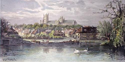 Ely Cathedral (Restrike Etching) by James Townshend
