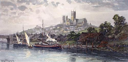 Lincoln Cathedral (Restrike Etching) by James Townshend