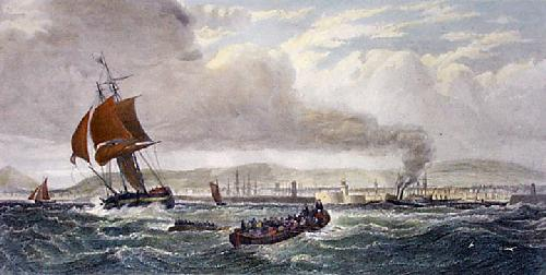 Kingston Harbour, Ireland (Restrike Etching) by Edward Duncan