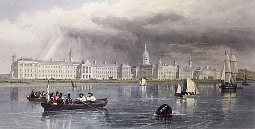 Military Hospital, Southampton (Restrike Etching) by Edward Duncan