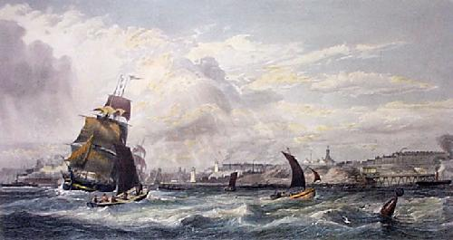 Mouth of the River Tyne (Restrike Etching) by Edward Duncan