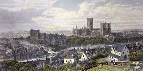 City of Durham (Restrike Etching) by G.H. Andrews
