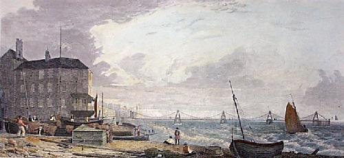 Brighton, Chain Pier (Restrike Etching) by W G Moss