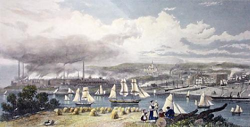 Barrow on Furness (Restrike Etching) by G.H. Andrews