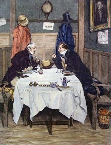 Whig and Tory (Restrike Etching) by Walter Dendy Sadler