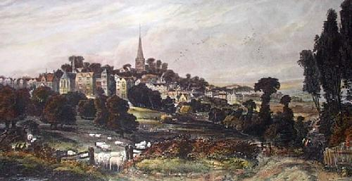 Harrow On The Hill (Restrike Etching) by Edward Duncan