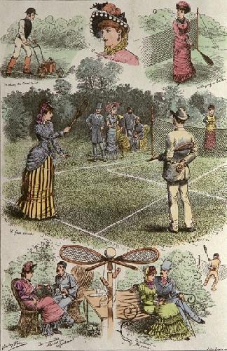 Days Tennis (Restrike Etching) by Shirley Hodson