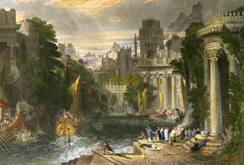 City of Ancient Greece (Restrike Etching) by William Linton